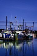 Fishing Boats Framed Prints - Menemsha Fishing Boats Framed Print by John Greim