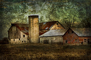 Farming Barns Digital Art Posters - Mennonite Farm in Tennessee USA Poster by Kathy Clark