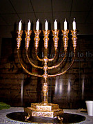 Menorah Print by Roger Reeves  and Terrie Heslop