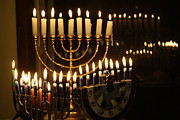 Candelabrum Prints - Menorahs Print by Connie Mueller