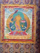 Heart Made Of Rose Paintings - Menris Tradition Of Thangka Art Contemporay by Tenzin Dhonden