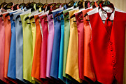 Menswear Posters - Mens Tuxedo Vests in a Rainbow of Colors Poster by Amy Cicconi