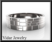 Custom Ring Jewelry - Mens Wedding Ring - Silver Wedding Ring by Roi Avidar