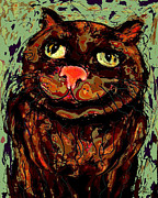 Fat Cat Framed Prints - Meow Framed Print by Natalie Holland