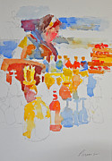 Roger Parent - Mercado Lady with Bottles