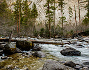 Terry Garvin Prints - Merced River from Happy Isles 2 Print by Terry Garvin