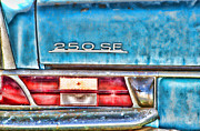 Rusted Cars Posters - Mercedes 250 SE Vintage Abandoned Car By Diana Sainz Poster by Diana Sainz