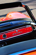Dashboard Prints - Mercedes 300 SL Dashboard Emblem Print by Jill Reger