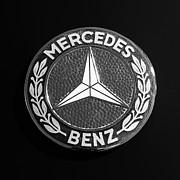 Mercedes Benz. Metal Prints - Mercedes-Benz 190SL Emblem Metal Print by Jill Reger