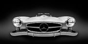 Mercedes Photos - Mercedes Benz 190SL Roadster - German Vintage Car by Alexander Voss