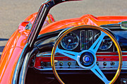 Mercedes Benz 300 Sl Classic Car Photos - Mercedes-Benz 300 SL Steering Wheel Emblem by Jill Reger