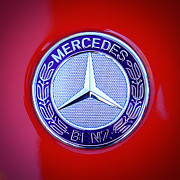 Mercedes Benz. Framed Prints - Mercedes-Benz 6.3 AMG Gullwing Emblem Framed Print by Jill Reger