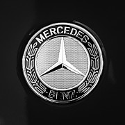 Mercedes Benz. Metal Prints - Mercedes-Benz 6.3 Gullwing Emblem Metal Print by Jill Reger