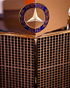 Car Photos - Mercedes-Benz Emblem by David Patterson