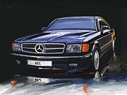 Sec Framed Prints - Mercedes Benz W126 Sec Framed Print by Michael Kapten