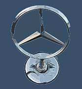 Sheats Framed Prints - Mercedes Logo 1 Framed Print by Samuel Sheats