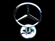 Sheats Framed Prints - Mercedes Logo 2 Framed Print by Samuel Sheats