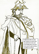 Canon Drawings - Merchants of Death Sir Basil Zaharoff by Brian Forrest