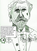 Canon Drawings - Merchants of Death Sir Hiram Maxim by Brian Forrest