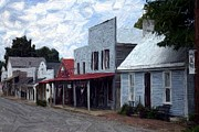 Sesquicentennial Digital Art Prints - Merchants Row - Perryville KY Print by Thia Stover