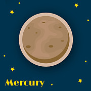 Square Digital Art Posters - Mercury Poster by Christy Beckwith