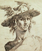 On Paper Drawings - Mercury by Hendrik Goltzius