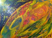 Serenity Prayer Paintings - Mercury Retrograde by Bebe Brookman