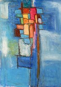 Modernism Pastels Originals - Merge by Venus