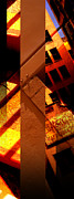 Merged Prints - Merged - Orange City Print by Jon Berry