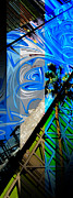 Merged Prints - Merged - Painted Blues Print by Jon Berry