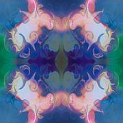 Merging Fantasies Abstract Pattern Artwork By Omaste Witkowski Print by Omaste Witkowski