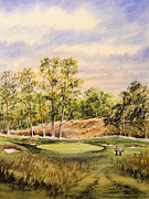 Us Open Painting Framed Prints - Merion Golf Club Framed Print by Bill Holkham