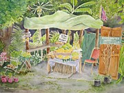 Fruit Stand Paintings - Merizo Fruit Stand by Kathleen Rutten