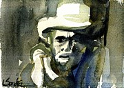 Country Western Paintings - Merle Haggard by Sandra Stone