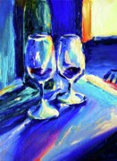 Deep Reflection Painting Posters - Merlot For Two Poster by Frederick   Luff  Gallery