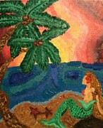 Kelpie Paintings - Mermaid Beach by Oasis Tone