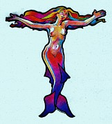 Dale Michels Prints - Mermaid Dream Print by Dale Michels
