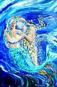 Mermaid Dreamer  Print by Trudi Doyle