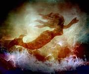 Mermaid In A Storm Print by Irma BACKELANT GALLERIES