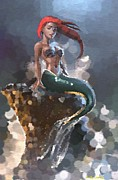 Little Mermaid Digital Art - Mermaid Lost by Nicole Seal