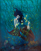 Kelp Paintings - Mermaid by Rob Corsetti