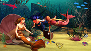 Mermaids Digital Art - Mermaid Treasures by Methune Hively