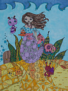 Seahorses Originals - Mermaids and Sea Creatures by Alexandra Benson