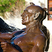 City Scapes Photos - Merman - Littlefield Fountain University of Texas  by Mark Weaver