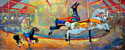 Merry-go-round Painting Originals - Merrily by Eileen  Fong