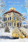 Architecture Mixed Media - Merry Christmas and Happy New Year by Gynt  