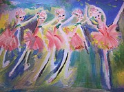 Ballet Dancers Paintings - Merry Christmas Ballet by Judith Desrosiers