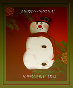 Season For Blessings Card Posters - Merry Christmas Card Poster by Debra     Vatalaro