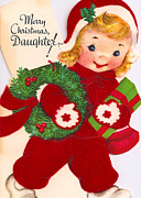 Daughter Posters - Merry Christmas Daughter Poster by Munir Alawi