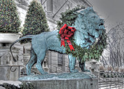 Chicago Art Prints - Merry Christmas Print by David Bearden